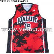 Custom Logo Design College Basketball Uniform 100% Polyester European Basketball Jersey