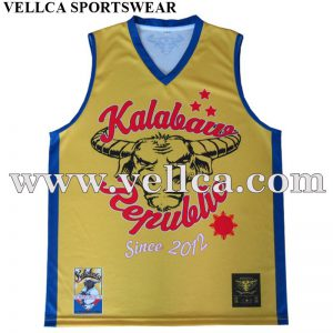 Sublimation Print Custom Team Basketball Jersey