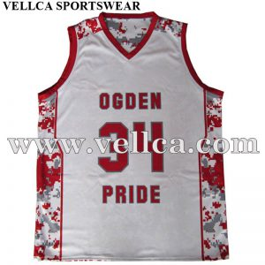 Custom Design Basketball Jersey Wholesale Blank Sublimated Reversible Basketball Jersey