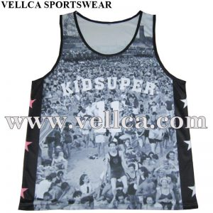 Dye Sublimation Running Singlet Polyester Fabric From China Factory