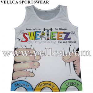 Custom Made Quick Dry Sublimated Running Singlet