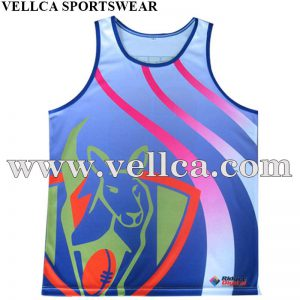Free Design Custom 100% Polyester Sublimated Running Singlets with No MOQ