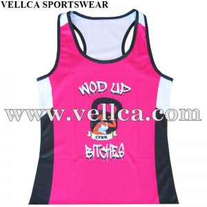 Customized Digital Printing Sublimation Womens Running Singlets