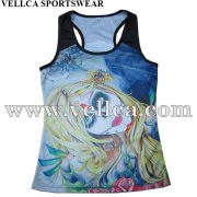 Custom Design Style Polyester Gym Wholesale Running Singlet Made in China