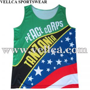 Custom blank Sublimation Fitness Tank Tops Sport Running Singlet