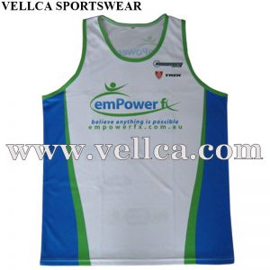 China Factory Custom Design Custom Wholesale Running Singlet