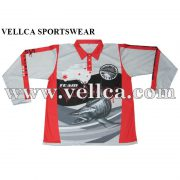 Custom Design Sublimated University Bass Club Fishing Jerseys