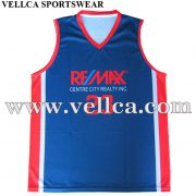 Sublimated Coolmax Micro Mesh Fabric Polyester Basketball Uniforms