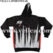 OEM & ODM Digital Sublimation Full Printed Polyester Fleece Hoody With Custom Logo