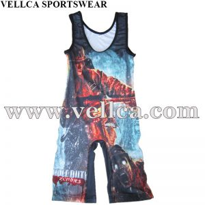 China Made Custom Design Sublimated Wrestling Singlets