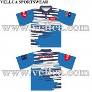 Custom Made Full Color Dye Sublimation Polo Shirts Sublimated Uniforms