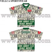 Custom Sublimated Polo Shirts With US dollar