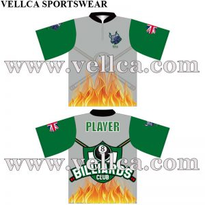 Factory Price Printed Billiards Jersey Sublimated Pool Jerseys in China
