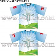 Sublimated Crew Neck Bowling Shirts Custom bowling Sports Apparel