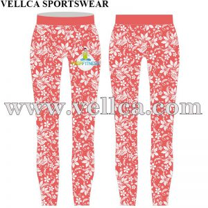 Custom Sublimated Women Gym Leggings Custom Logo Compression Tights