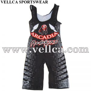 Custom Full Sublimated Printing Wrestling Singlets and Team Gear