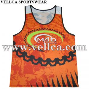 Digital Sublimation Printing Mens Gym Singlets Vests and Fitness Tank Tops