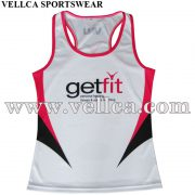 Custom Sublimated Mens Tank Top for Bodybuilding and Fitness
