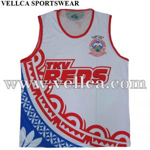 Cheap and Quality Printing Sublimated Sleeveless Club Running Vests